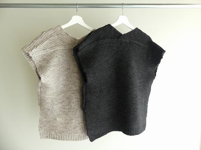 knit vest slub yarn スラブヤーンニットベストの商品画像9