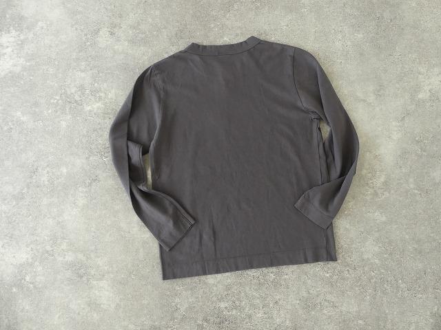 天竺長袖Tシャツ (3)グレーの商品画像2