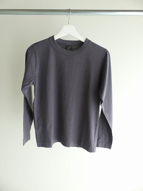 天竺長袖Tシャツ (3)グレーの商品画像3