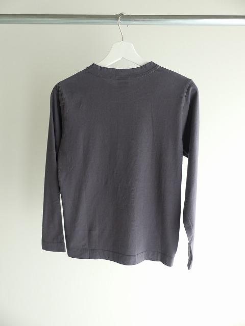 天竺長袖Tシャツ (3)グレーの商品画像4