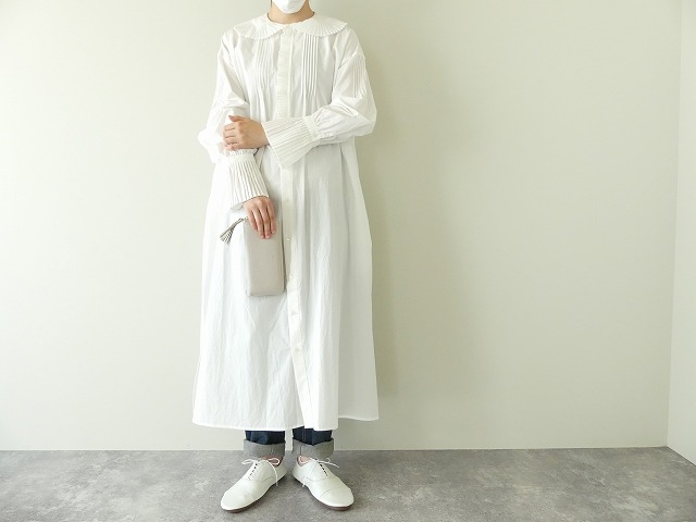 プリーツフリル衿ワンピースの商品画像1