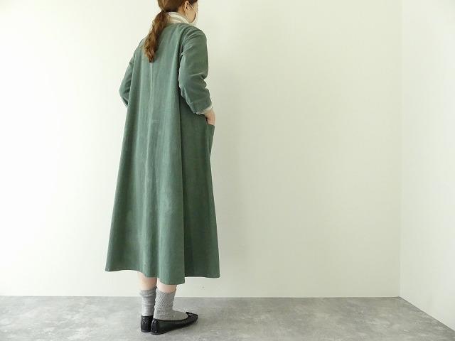 コーデュロイVネックドレスの商品画像1