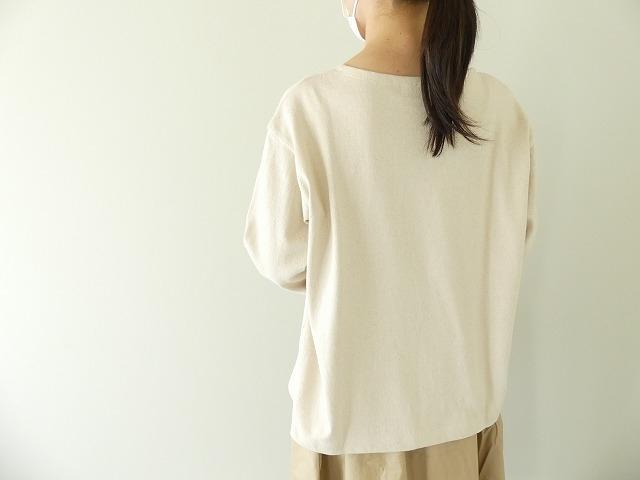 リサイクルコットン天竺バスクシャツの商品画像2