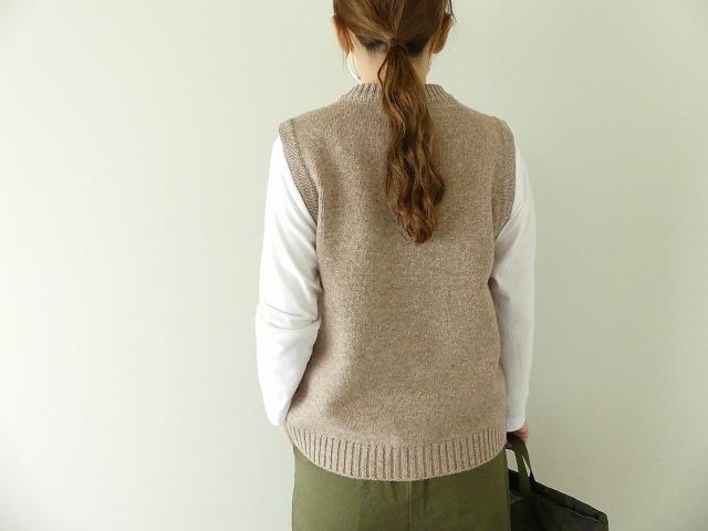 ウール天竺編みベストの商品画像2