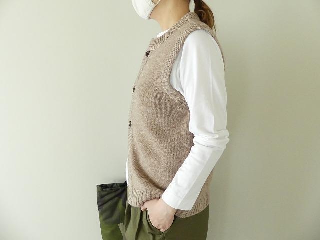 ウール天竺編みベストの商品画像4