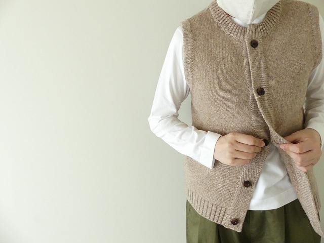 ウール天竺編みベストの商品画像5