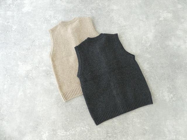 ウール天竺編みベストの商品画像7