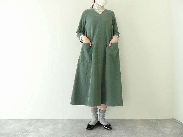 コーデュロイVネックドレスの商品画像2