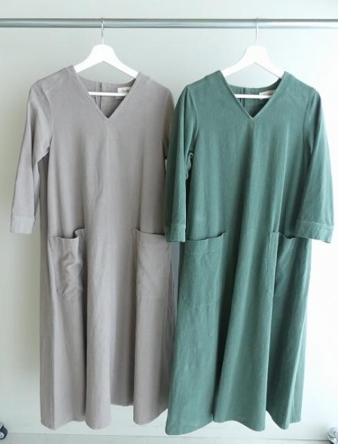 コーデュロイVネックドレスの商品画像3