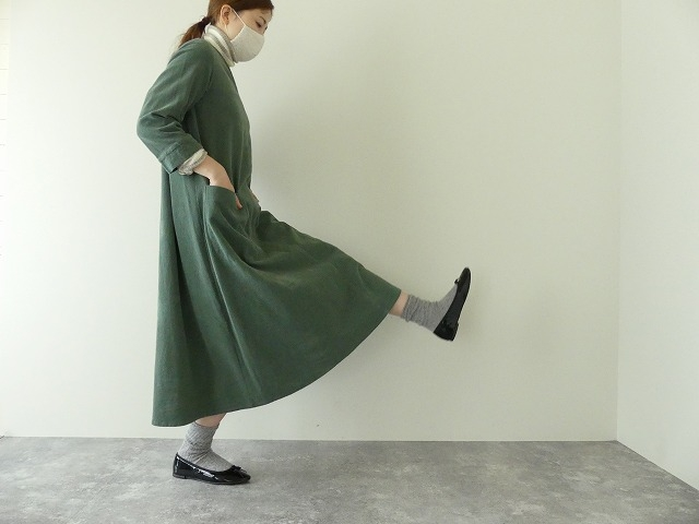 コーデュロイVネックドレスの商品画像4