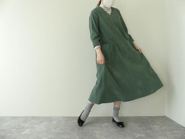 コーデュロイVネックドレスの商品画像7