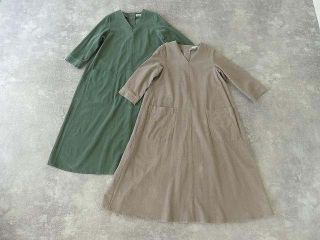 コーデュロイVネックドレスの商品画像8