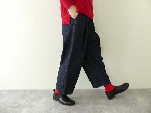 cotton denim back gom パンツの商品画像4
