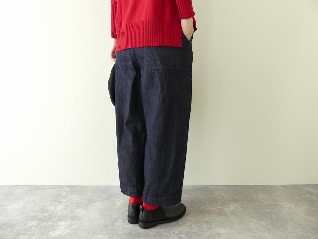 cotton denim back gom パンツの商品画像5