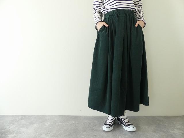 21Wコーデュロイマキシ丈スカート