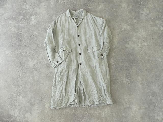 泥藍リネンコートの商品画像11