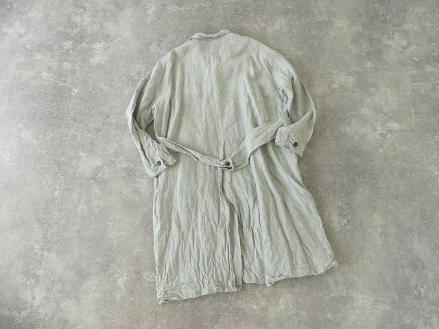 泥藍リネンコートの商品画像12