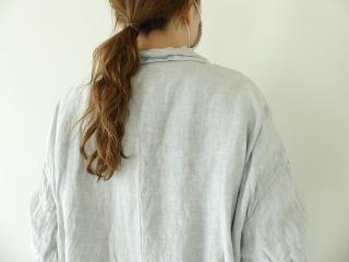 泥藍リネンコートの商品画像15