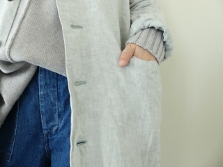 泥藍リネンコートの商品画像16