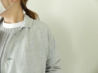 泥藍リネンコートの商品画像18