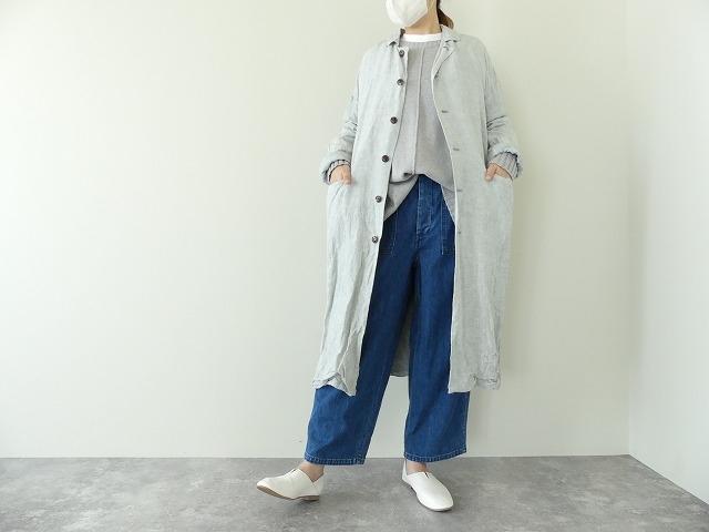 泥藍リネンコートの商品画像2