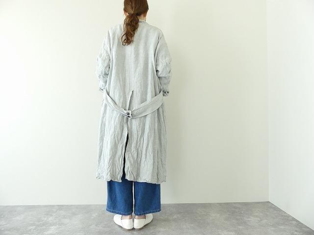 泥藍リネンコートの商品画像4