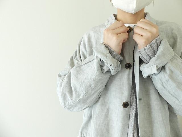 泥藍リネンコートの商品画像6