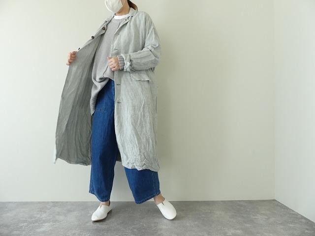 泥藍リネンコートの商品画像8