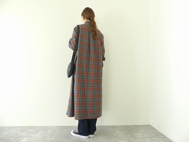 フランネルロングシャツワンピースの商品画像4