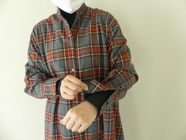 フランネルロングシャツワンピースの商品画像5