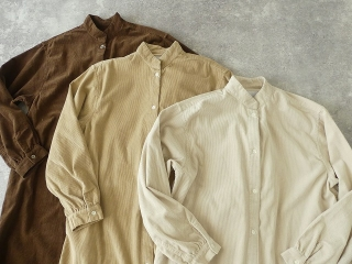 コーデュロイバンドカラーシャツワンピースの商品画像20