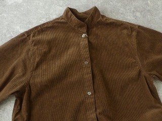コーデュロイバンドカラーシャツワンピースの商品画像31