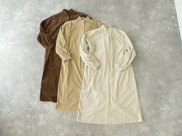 コーデュロイバンドカラーシャツワンピースの商品画像8