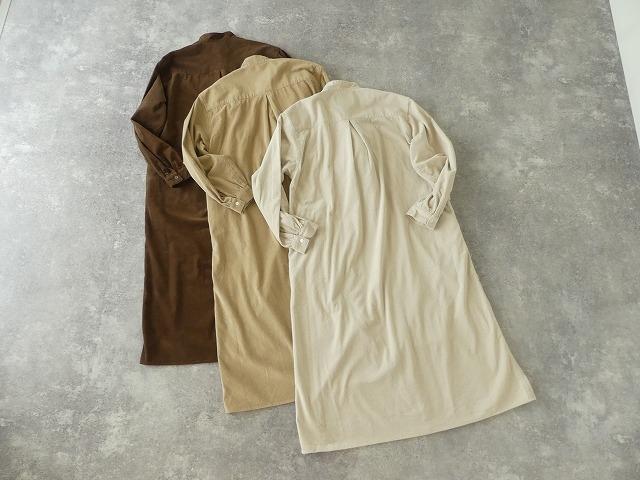 コーデュロイバンドカラーシャツワンピースの商品画像9