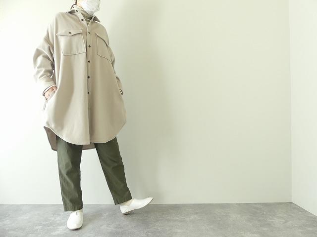 ウールカシミヤビーバーミリタリーシャツの商品画像1