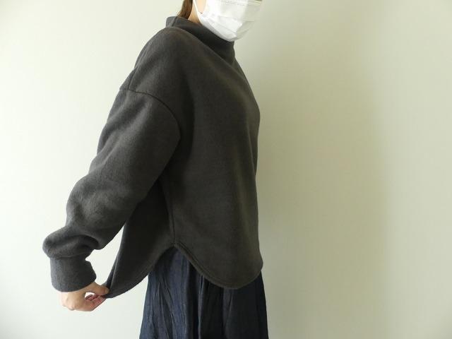 パイルジャーマン起毛ボトルネックラウンドヘムプルオーバーの商品画像6