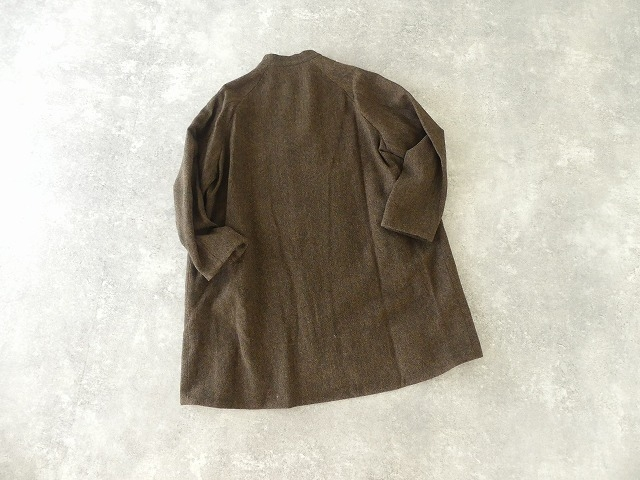イベリコウールへリンボンツイードスタンドカラーコートの商品画像10
