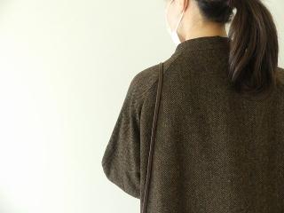 イベリコウールへリンボンツイードスタンドカラーコートの商品画像15
