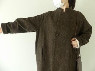 イベリコウールへリンボンツイードスタンドカラーコートの商品画像19