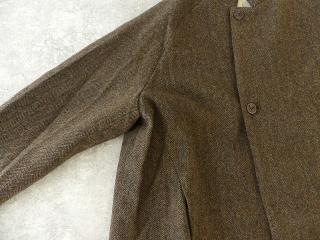 イベリコウールへリンボンツイードスタンドカラーコートの商品画像21