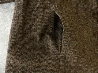 イベリコウールへリンボンツイードスタンドカラーコートの商品画像23