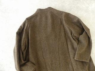 イベリコウールへリンボンツイードスタンドカラーコートの商品画像26