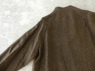 イベリコウールへリンボンツイードスタンドカラーコートの商品画像28
