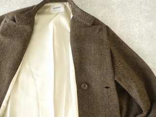 イベリコウールへリンボンツイードスタンドカラーコートの商品画像29