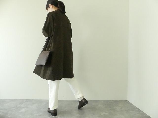 イベリコウールへリンボンツイードスタンドカラーコートの商品画像7