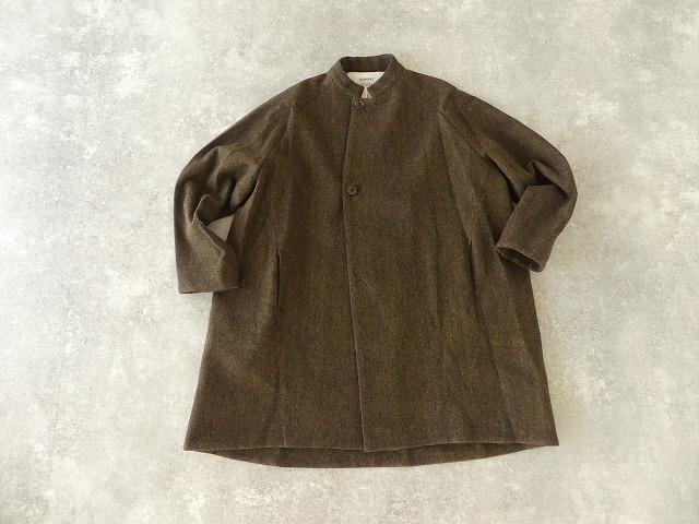 イベリコウールへリンボンツイードスタンドカラーコートの商品画像9