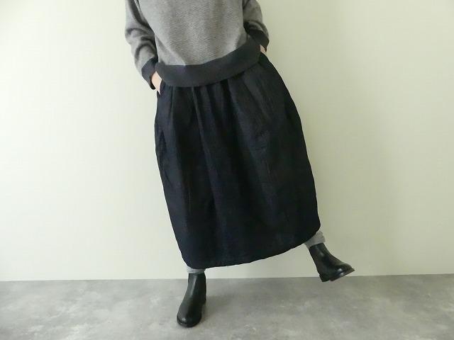 11ozムラデニム裏起毛バルーンスカートの商品画像1