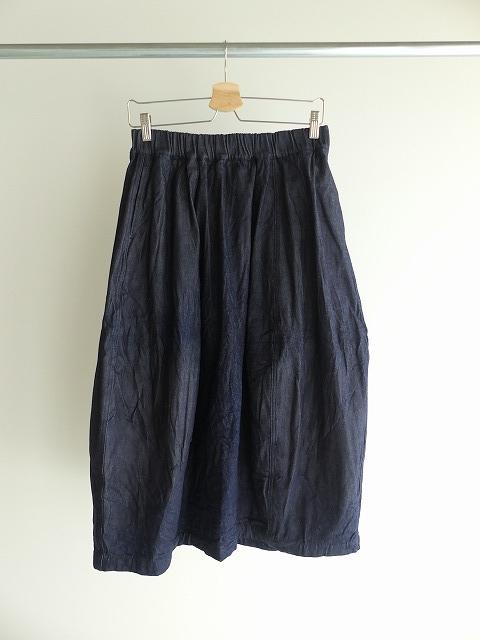 11ozムラデニム裏起毛バルーンスカートの商品画像2
