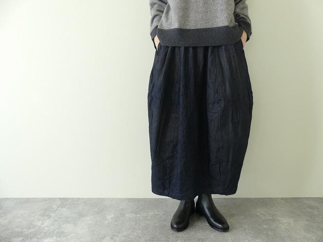 11ozムラデニム裏起毛バルーンスカートの商品画像3