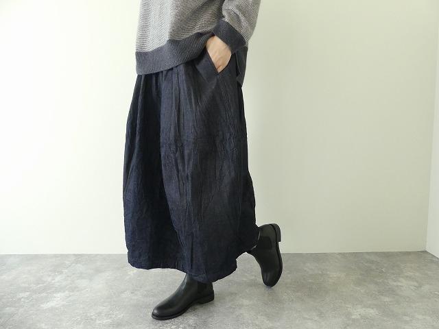 11ozムラデニム裏起毛バルーンスカートの商品画像4